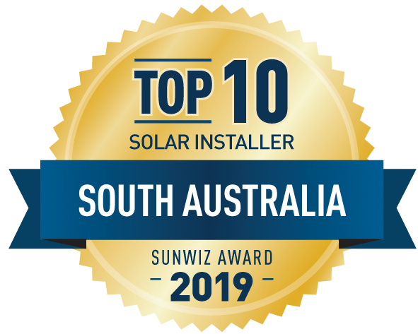 Top 10 Solar Installer South Australia SunWiz Award 2019 - Sun Energy Australia