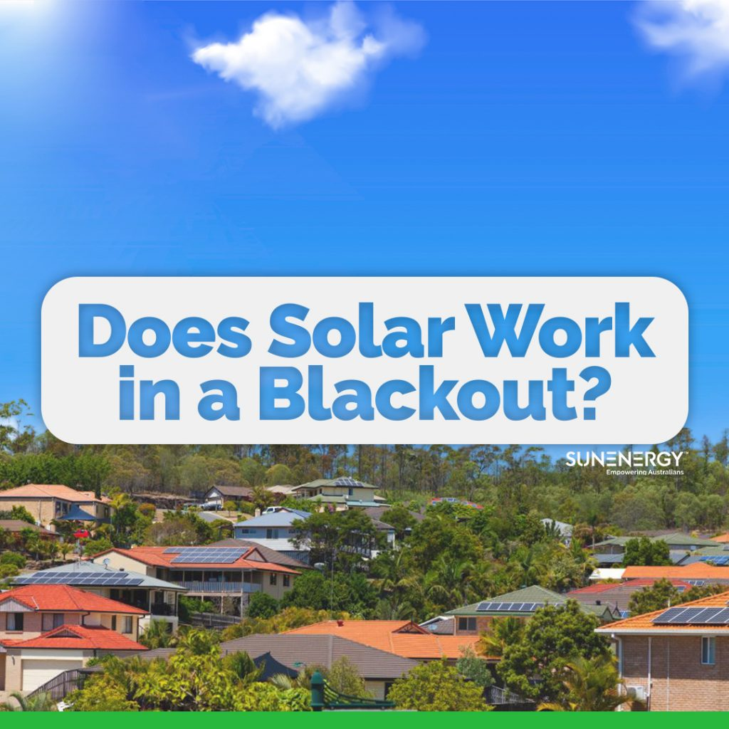 Does solar work in a blackout sunenergy