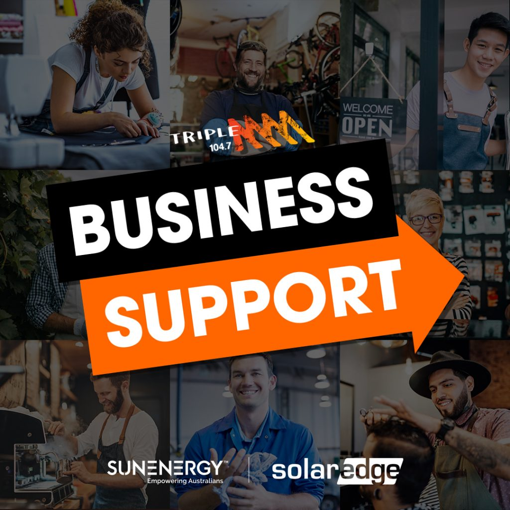SunEnergy teams up with Adelaide's 'Triple M' to help a local business