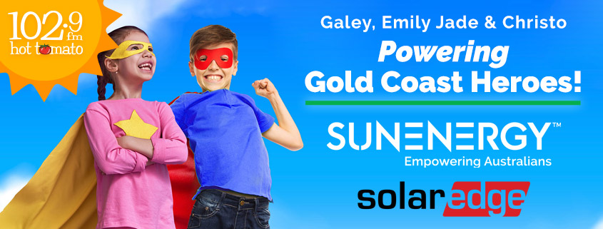 SunEnergy teams up with Gold Coast radio station to help a local hero